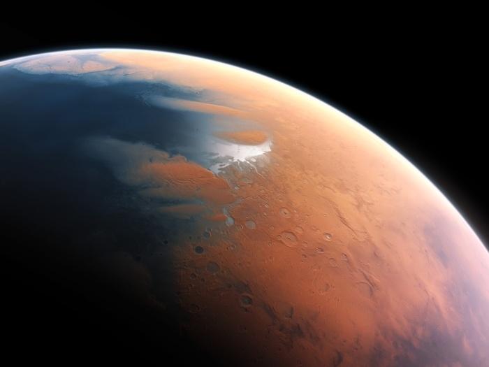 Marte hace 3500 millones de años